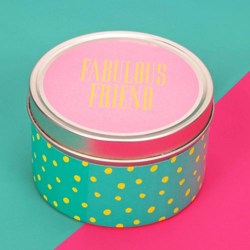 Scented Candle Tin Table Gift Favor - Fabulous Friend